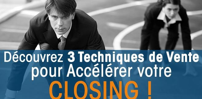 Techniques de vente Closing