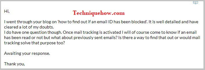 know if blocked on gmail