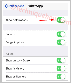 disable while logged in to the WhatsApp Web iphone