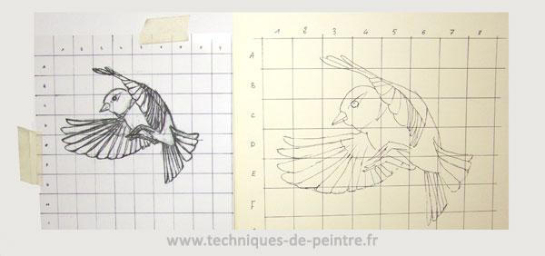 dessin-oiseau-quadrillage