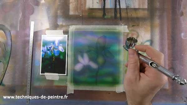 peindre-arriere-plan-iris-aerographe-techniques-de-peintre