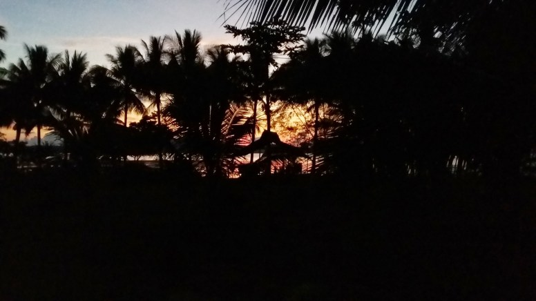 This was the sunset on our first night in Palawan, from our cottage at Jenny's Kahamut-an.