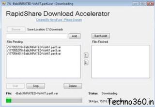 Rapidshare download accelerator