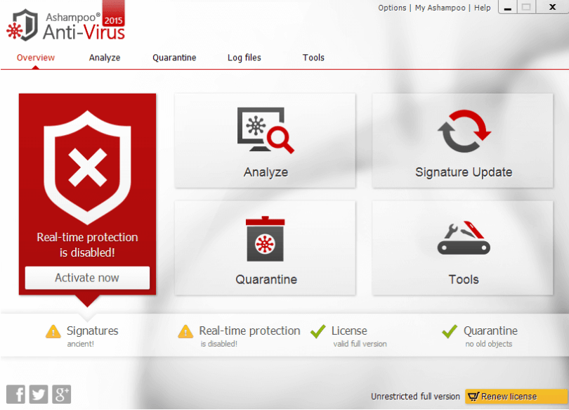 ashampoo antivirus 2015