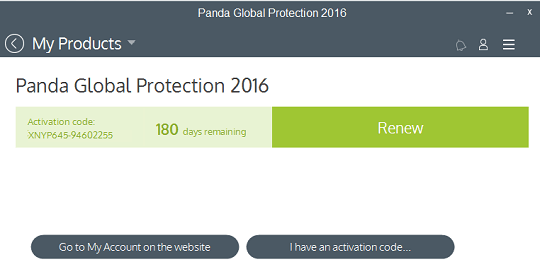 Panda Global Protection activation code