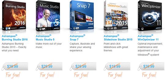 ashampoo softwares promo