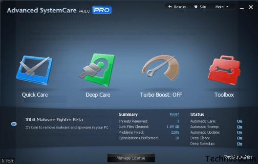 Advanced SystemCare PRO 4