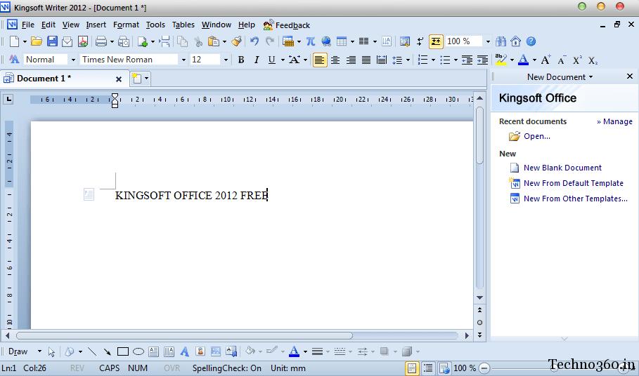 Download Kingsoft Office 2012 Free