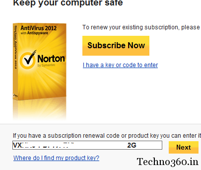 Norton antivirus subscription renewal code free : Black