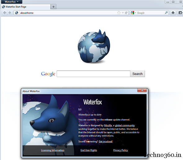 Download Waterfox 9 0