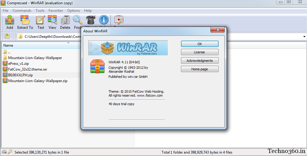 winrar homepage download