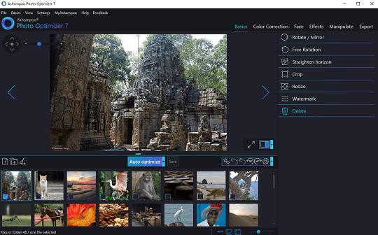 Ashampoo Photo Optimizer 7 Interface