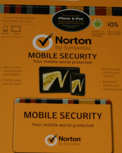 Norton Mobile Security One year License for Free