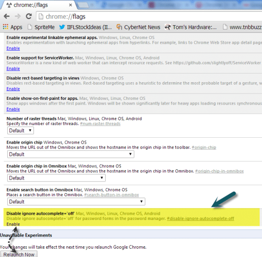 enable autocomplete=off feature in Chrome 34