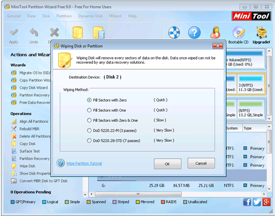 MiniTool Partition Wizard 9.0