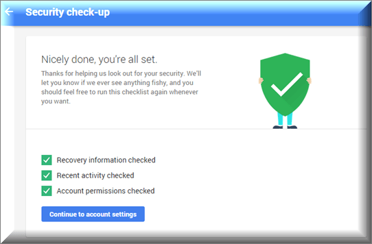 google drive account security check-up