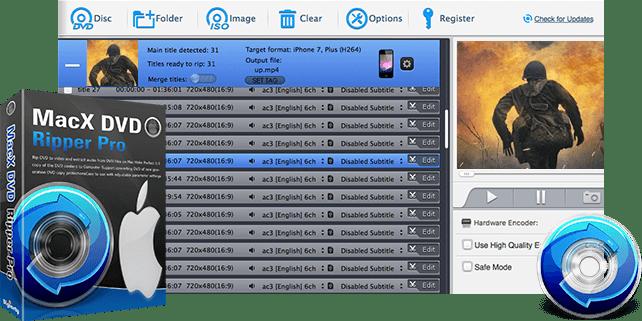 MacX DVD Ripper Pro Free License worth $69.95 [Mac ]
