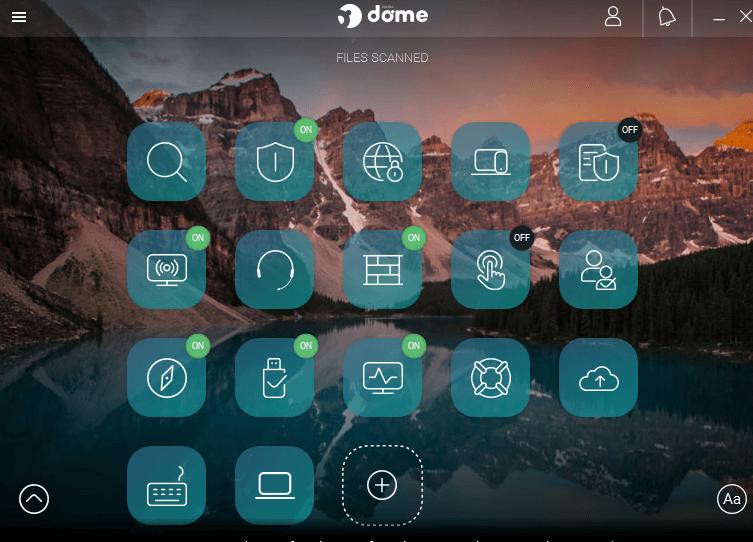 panda dome advanced interface