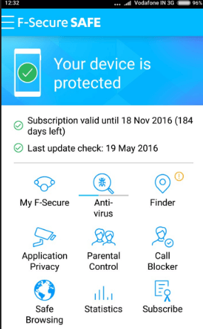 F-SECURE SAFE Mobile