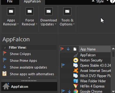 AppFalcon- Professional Uninstaller Free 1 Year License