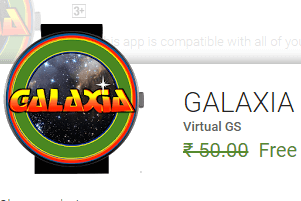 Galaxia Andriod Wear Game Now free @ Google Play