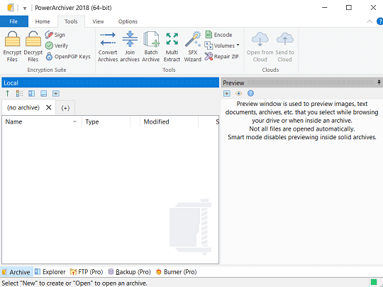 PowerArchiver 2018 interface