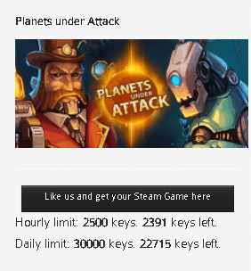 Planets Under Attack Game Free Steam Key
