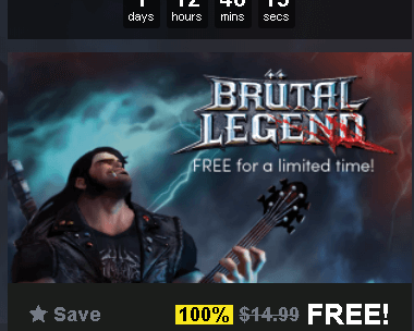 Brutal Legend Game Right Now Free on Humble Bundle