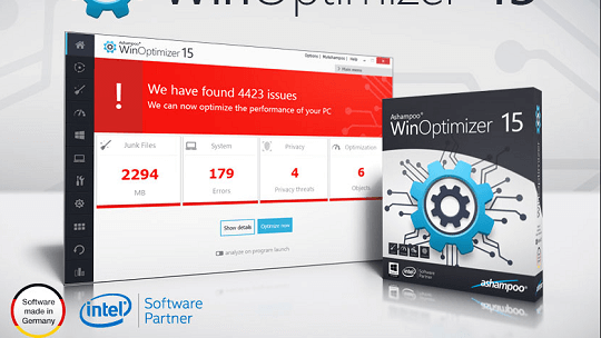 Ashampoo WinOptimizer 15 Free for 1 Year
