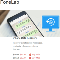FoneLab iPhone Data Recovery Free 1 Year License