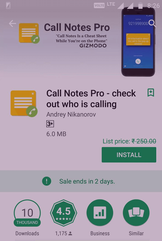 Call Notes Pro free