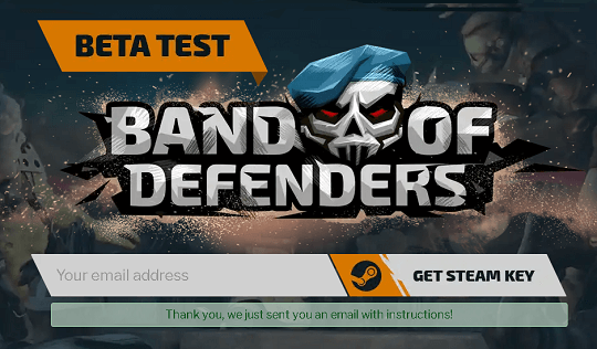Band of Defenders Beta Free Steam Key