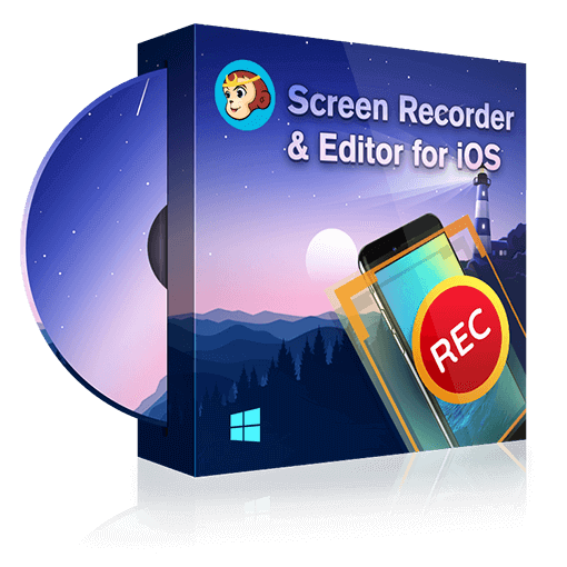 DVDFab Screen Recorder & Editor for iOS box