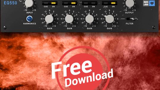 EQ550 Discrete 5 Band Equalizer (VST, AU,AAX Plug-in) Free License
