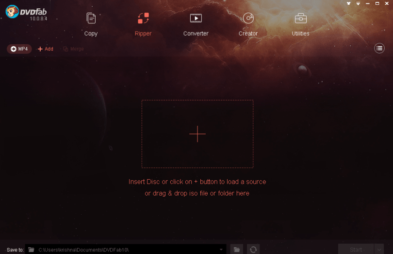 dvdfab dvd creator interface