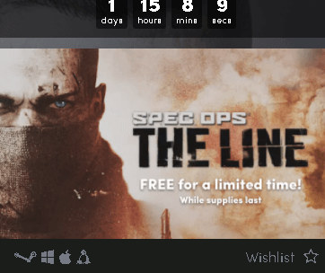 Spec Ops: The Line PC Game Free Steam Key  [Only 48 Hours]