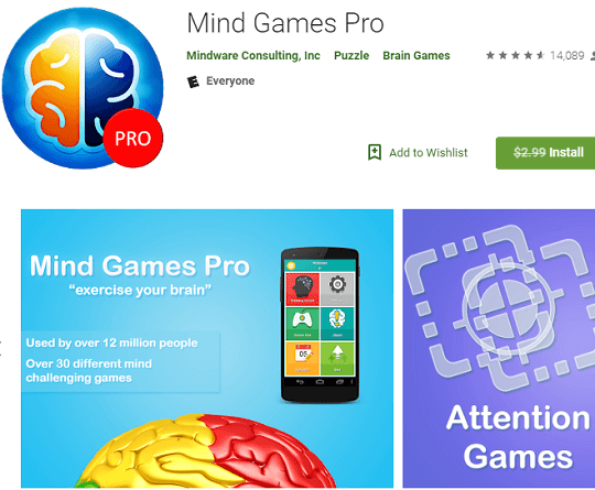 Mind Games Pro for Android Now Free[Worth $2.99]
