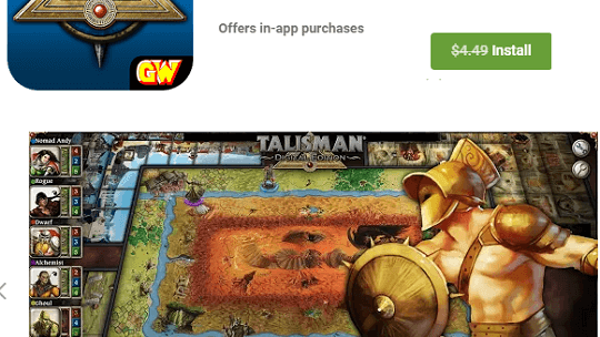 TALISMAN: DIGITAL EDITION NOW FREE FOR ANDROID