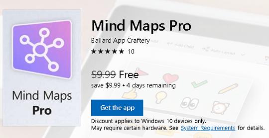 Get Mind Maps Pro Windows 10 App for Free [Worth $10]