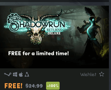 Shadowrun Returns Deluxe Cyberpunk RPG Free on Humble Store
