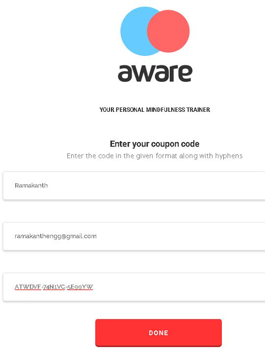 aware premium redeem code
