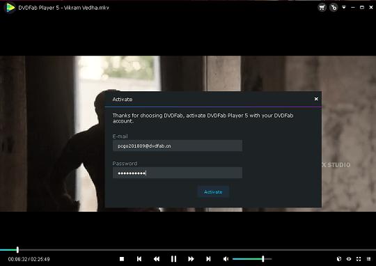 DVDFab Player 5 Ultra license