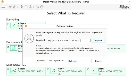 Stellar Phoenix windows data recovery registration key