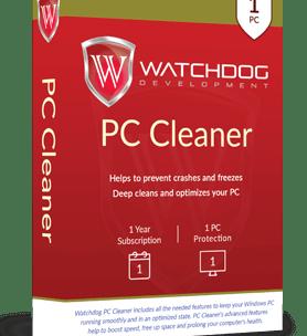 Watchdog PC Cleaner 2018 – Free 1 Year Premium License