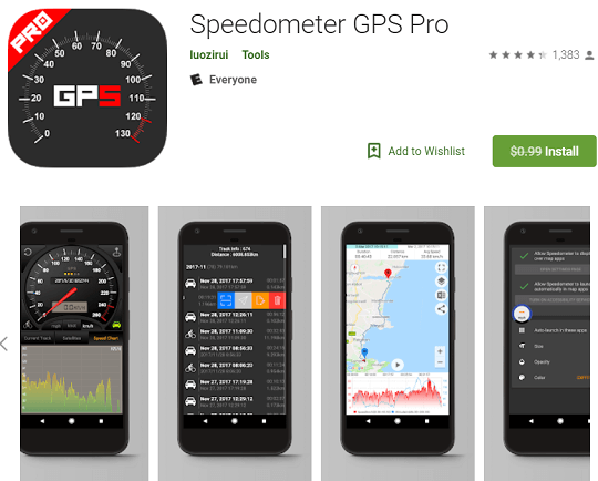 Speedometer GPS Pro App For Android Available for Free