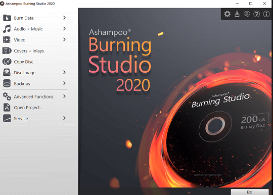 Ashampoo Burning Studio 2020 - Main Window