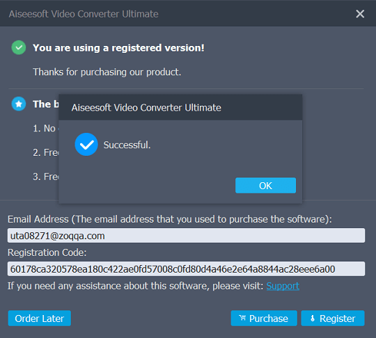 Aiseesoft video converter utlimate license