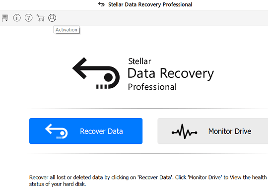 Stellar Data Recovery Pro Main Window