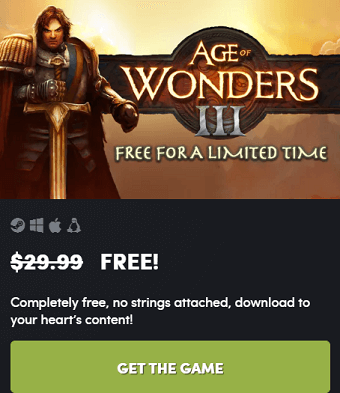 AGE OF WONDERS 3 PC Game Available Free for Limited Time