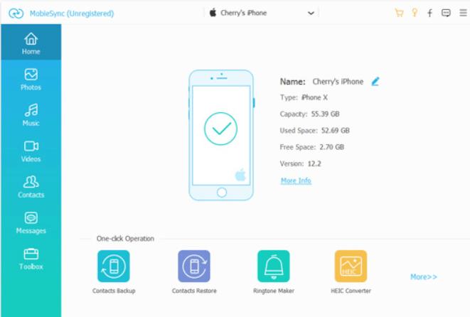 Aiseesoft MobieSync interface